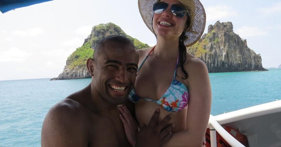 Serginho Moraes, finalista do TUF Brasil 1, ao lado da nova namorada, Maria Melilo, ganhadora do BBB 11