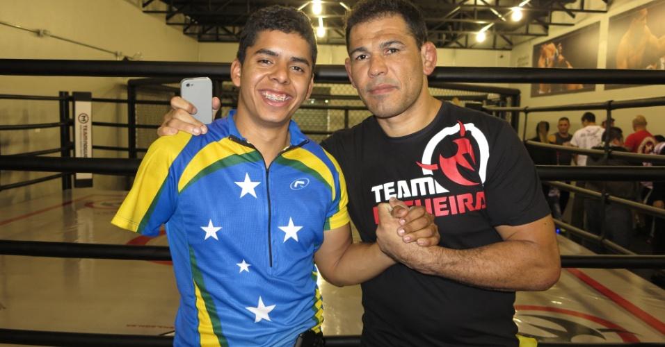 David Souza perdeu o braço e agora treina na academia de Minotauro