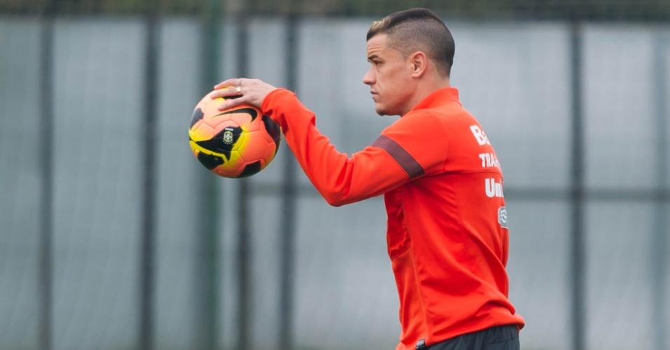 D'Alessandro antes de treino de finalizações do Internacional (02/09/2013)