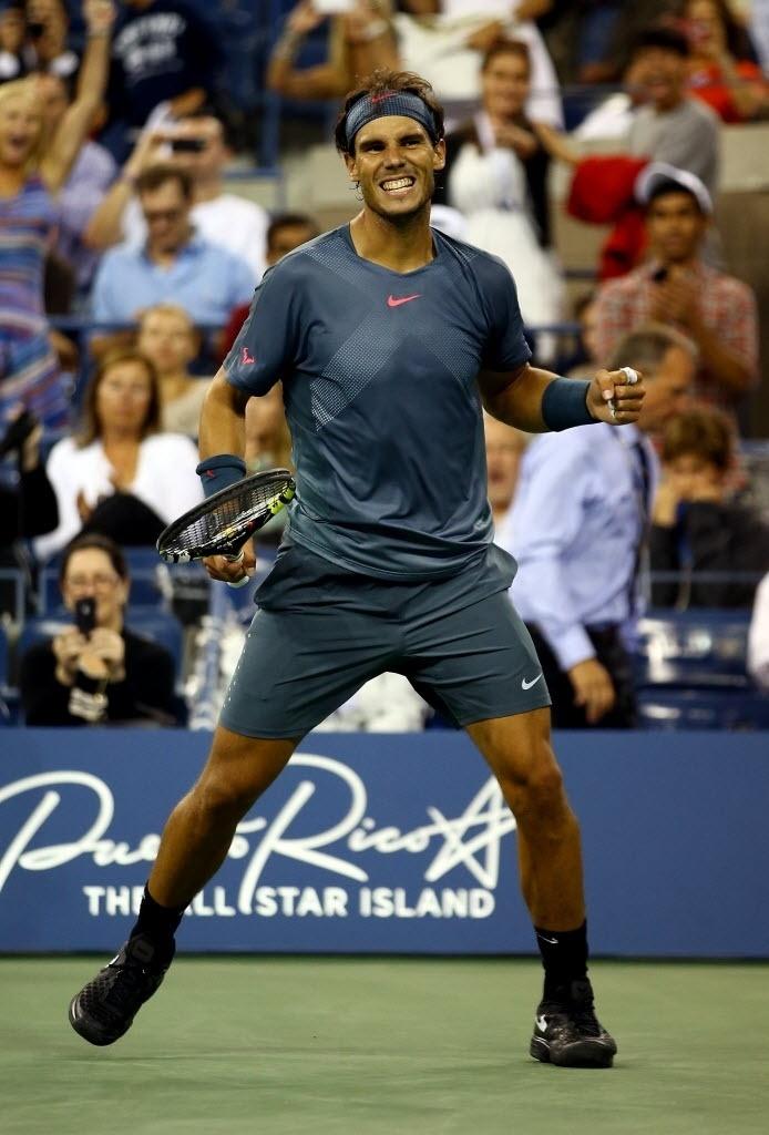 Na chave de simples, Rafael Nadal passou por Tommy Robredo e avançou às semifinais do Aberto dos EUA