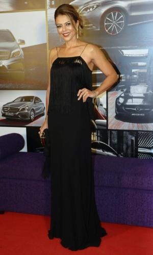 30.jan.2013 - Ex-jogadora de vôlei Leila comparece a evento da Mercedes/Benz em São Paulo