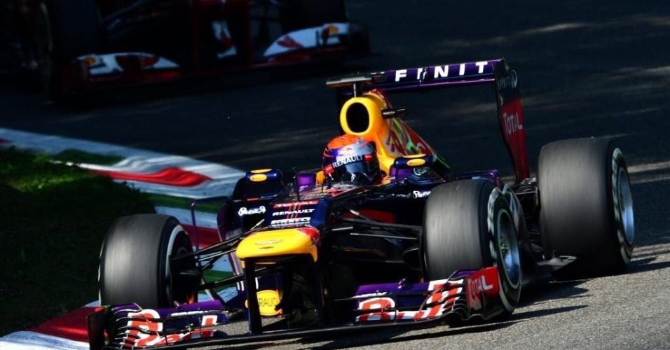 Felipe Massa e Sebastian Vettel participam de treino oficial em Monza