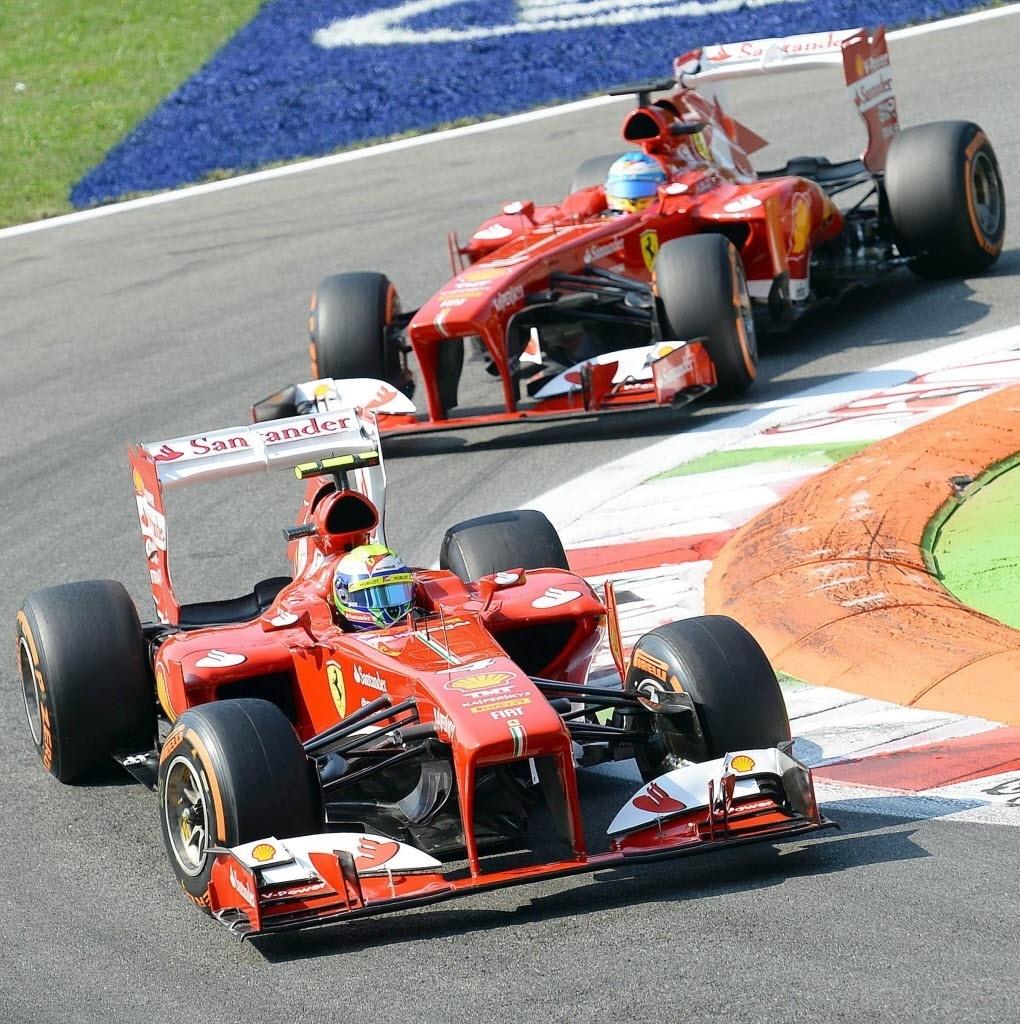 Massa e Alonso participam de treino no circuito de Monza