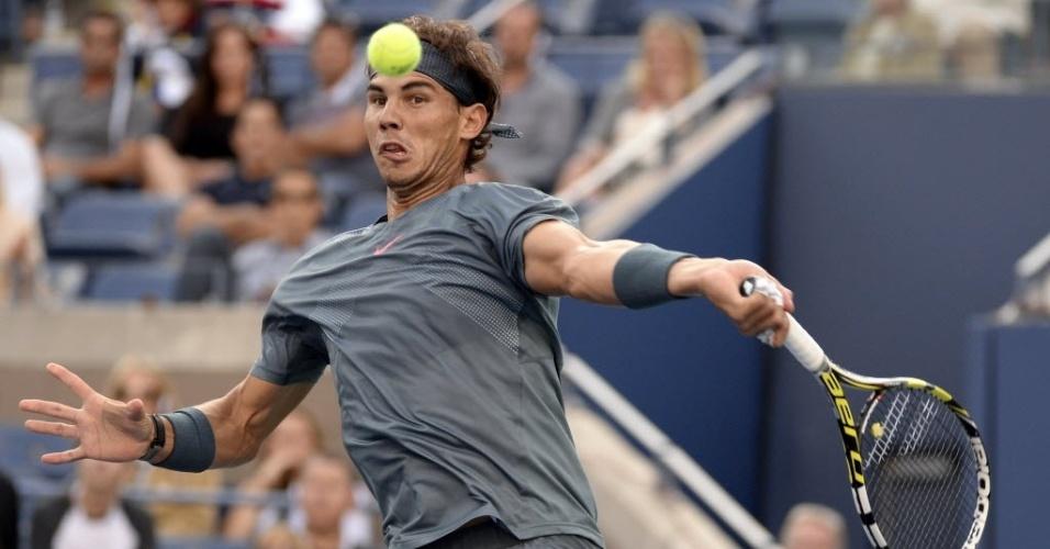 09.set.2013 - Rafael Nadal, dono de nove títulos na temporada 2013, encara Novak Djokovic na decisão do Aberto dos Estados Unidos