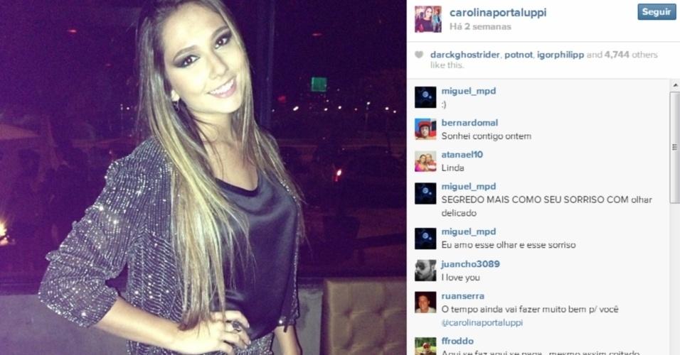Carolina Portaluppi, filha de Renato Gaúcho, posta foto toda produzida no Instagram