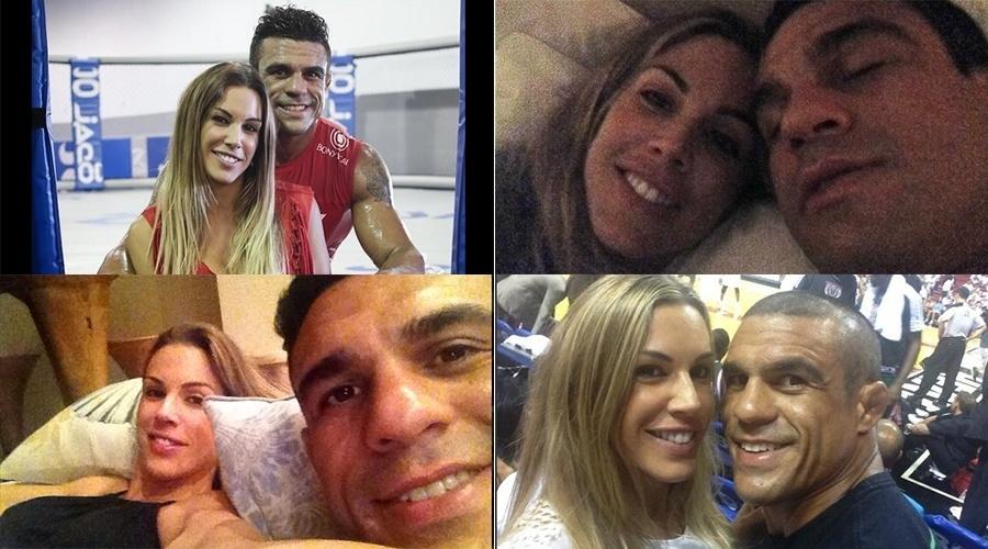 Vitor Belfort e Joana Prado formam um dos casais mais famosos do MMA, com direito a juras de amor e fotos juntos nas redes sociais