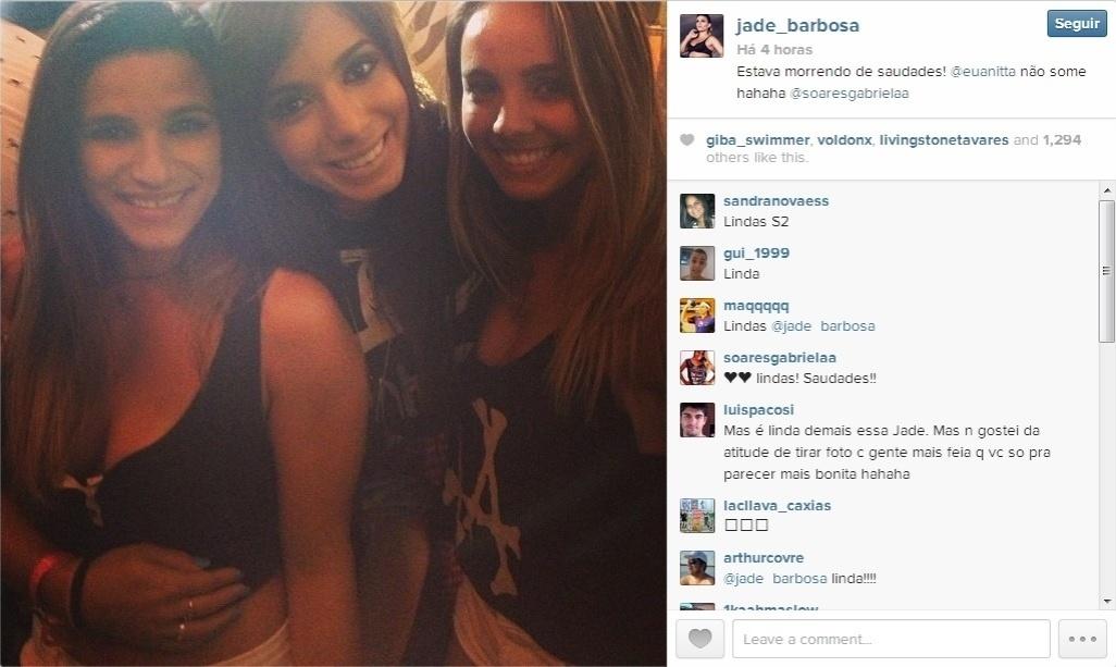 As meninas da ginástica, Jade Barbosa e Gabriela Soares, encontraram a Anitta e aproveitaram para matar a saudade no Rock in Rio