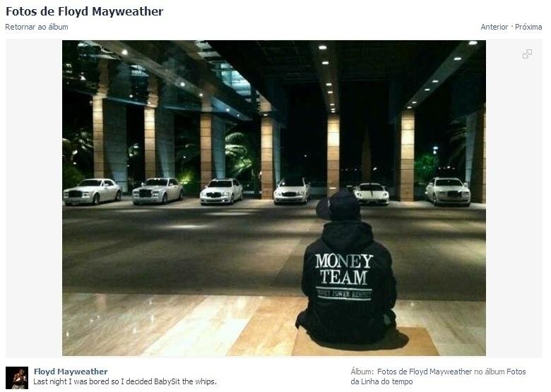 Floyd e sua coleção de carros. Ele se orgulha de ser do