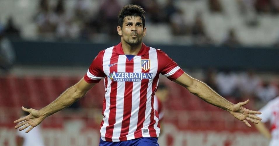 18.08.2013 - Diego Costa, atacante do Atlético de Madrid