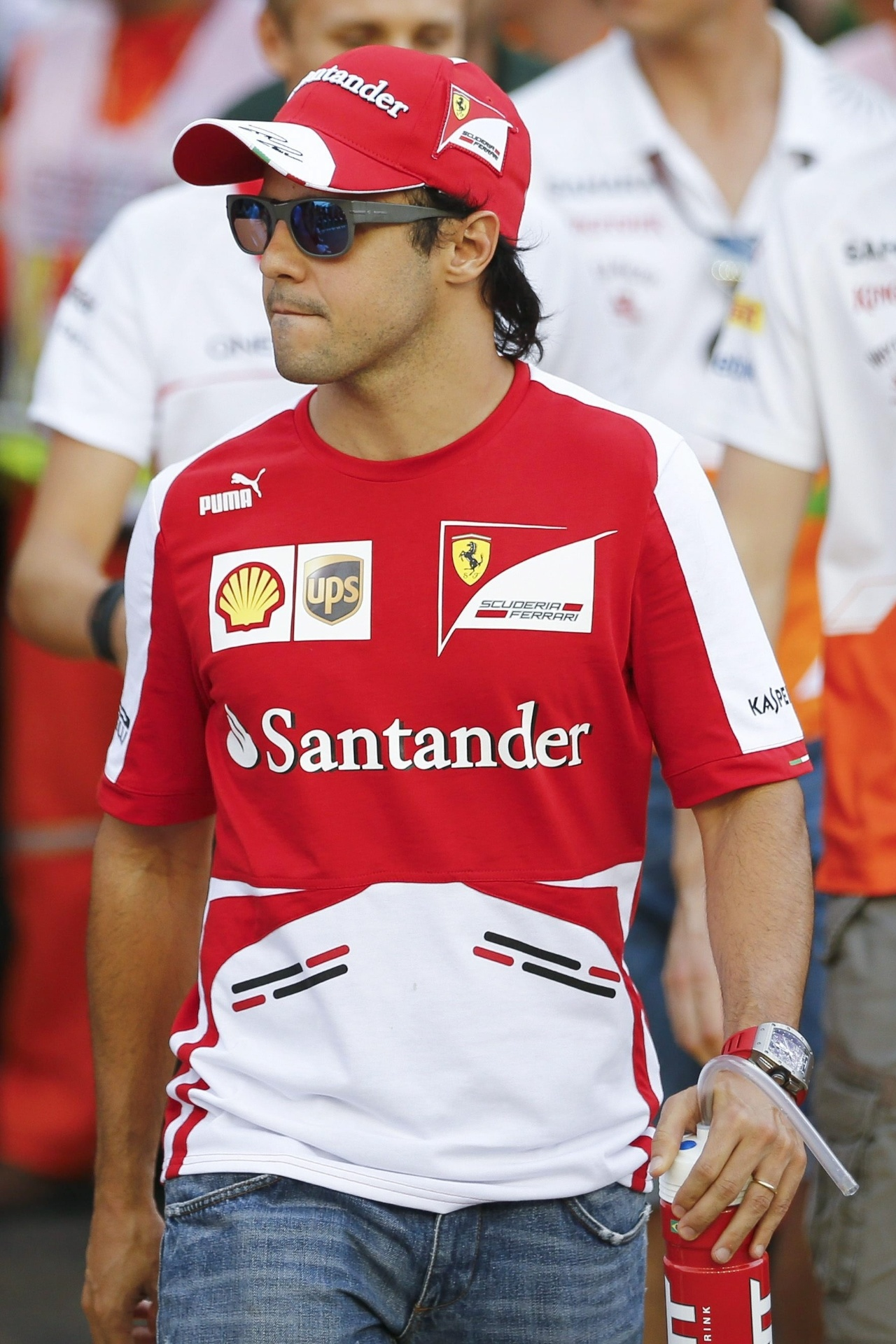 22.09.2013 - Felipe Massa chega para a disputa do GP de Cingapura