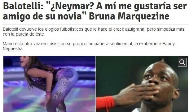 Balotelli brincou quando perguntado sobre amizade com Neymar