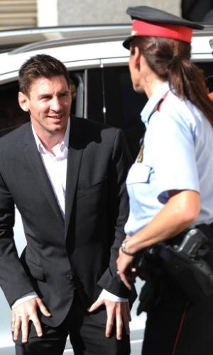27.set.2013 - Messi e o pai devem 5 milhões de euros em impostos na Espanha