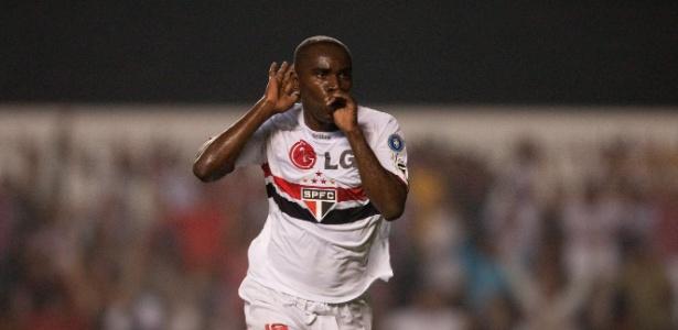 Hugo teve seu melhor ano no São Paulo em 2008: marcou 14 gols no Brasileirão e foi campeão