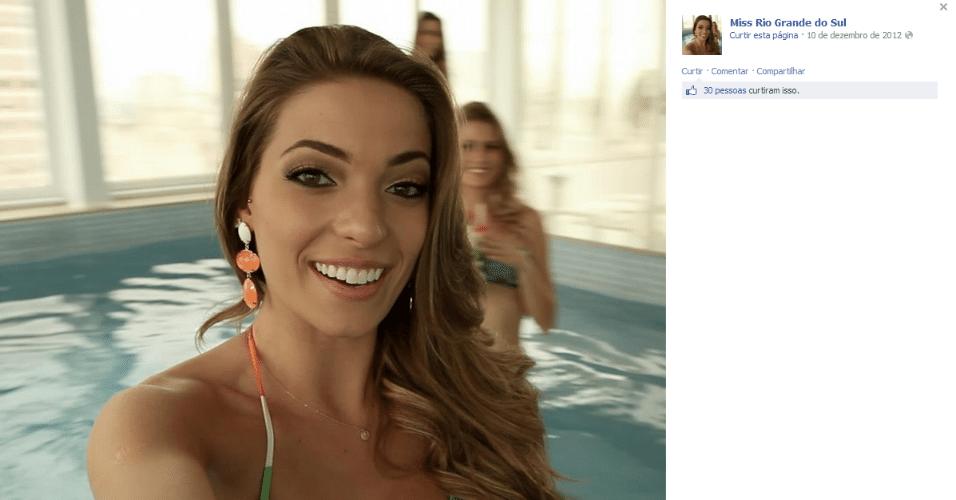 Vitória Centenaro é Miss RS e namora o zagueiro Saimon, do Grêmio