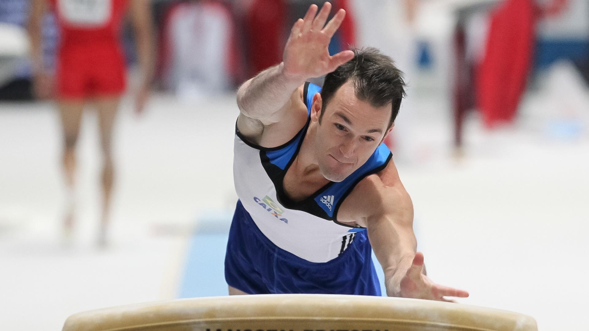 01.10.2013 - Diego Hypolito avançou à final do salto com a quinta melhor nota das eliminatórias