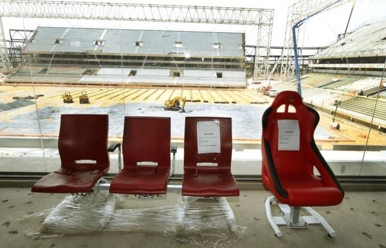 18.set.2013 - Compra de cadeiras da Arena Pantanal tem suspeita de superfaturamento e viram alvo de investigação do MP