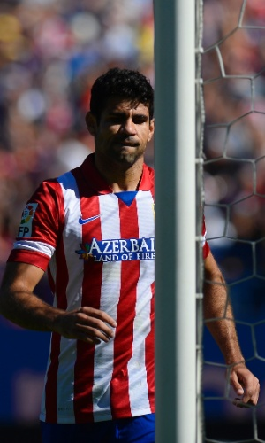 06.10.2013 - Atacante brasileiro Diego Costa perdeu um pênalti no jogo entre Atlético de Madri e Celta de Vigo