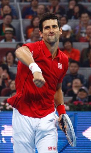 06.10.2013 - Djokovic comemora título do ATP 500 de Pequim