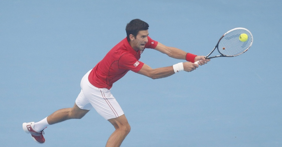 06.10.2013 - Djokovic faz careta na final do ATP 500 de Pequim, onde venceu Nadal na final