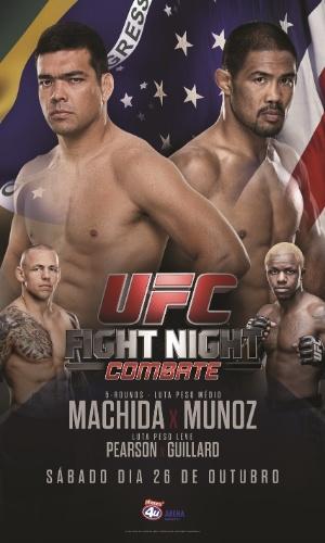 Em novo pôster do UFC em Manchester, Lyoto Machida aparece junto da bandeira do Brasil
