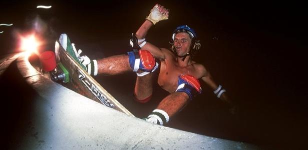 Jay Adams, em 1978; jovens pobres levaram técnicas do surfe às pistas