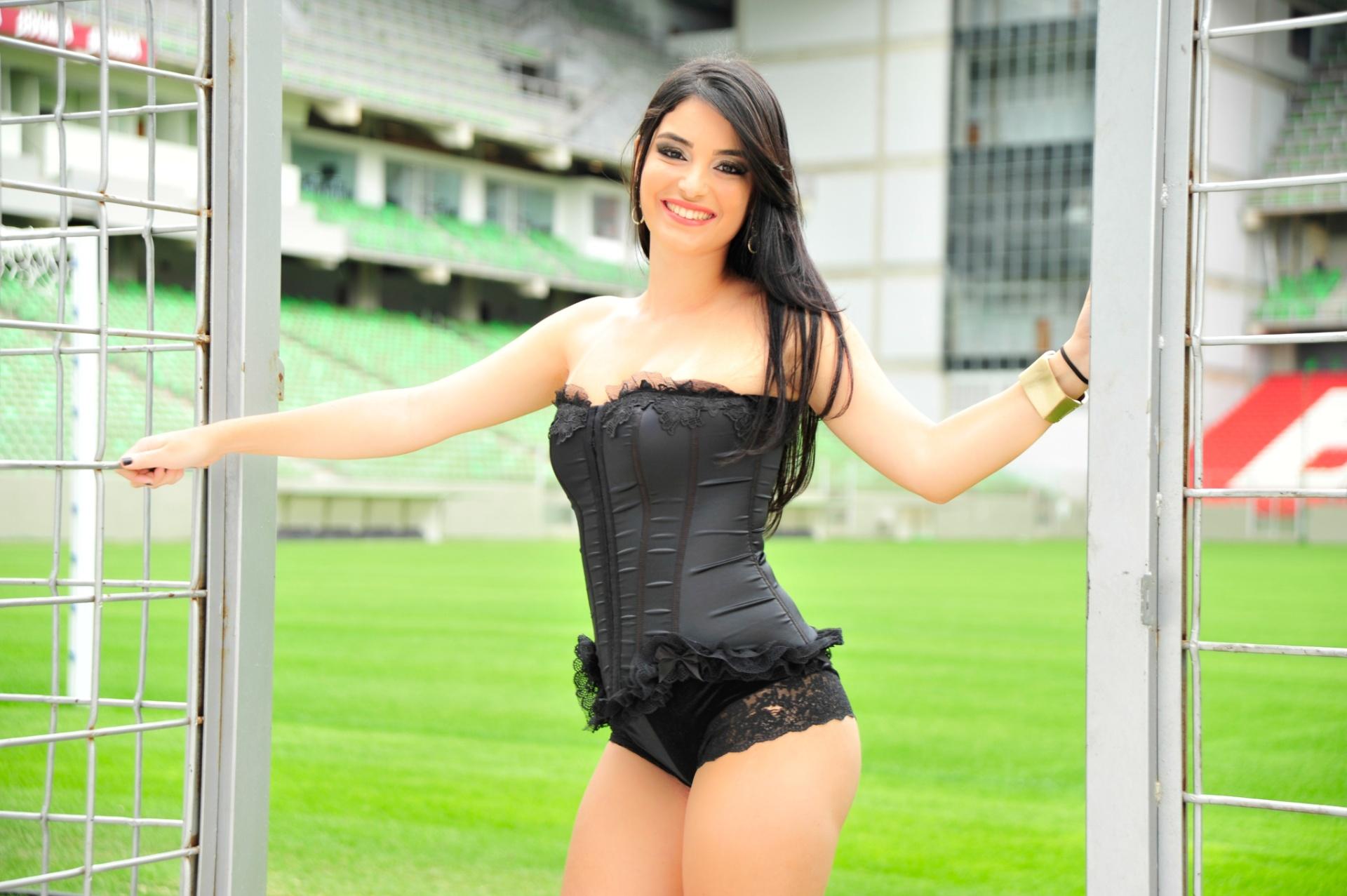 Joanna Mattos, a bela da tocida do Atlético-MG