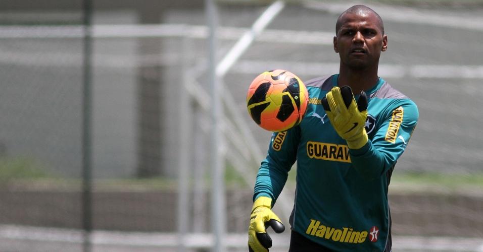 Jefferson voltou da seleção brasileira e reforçará o Botafogo contra o Vasco
