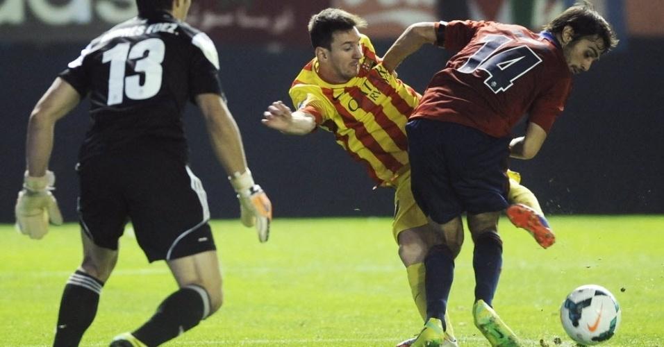 Recuperado de lesão, Messi entrou no segundo tempo contra o Osasuna pelo Campeonato Espanhol