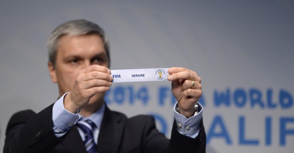21.10.2013 - A Ucrânia foi sorteada para encarar a França na repescagem europeia para Copa do Mundo de 2014