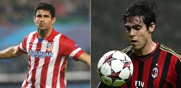 Kaká e Diego Costa demonstraram que podem brigar por vaga na Copa do Mundo de 2014