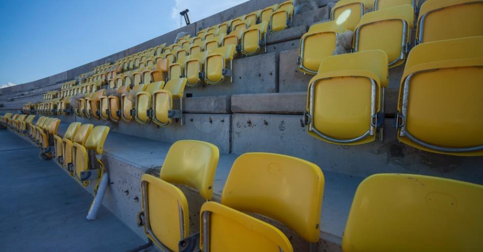 12.09.2013 - Confira imagens da Arena da Amazônia, local dos jogos da Copa de 2014 em Manaus