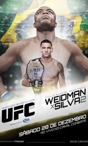 Novo pôster brasileiro para o UFC 168 mostra Anderson Silva