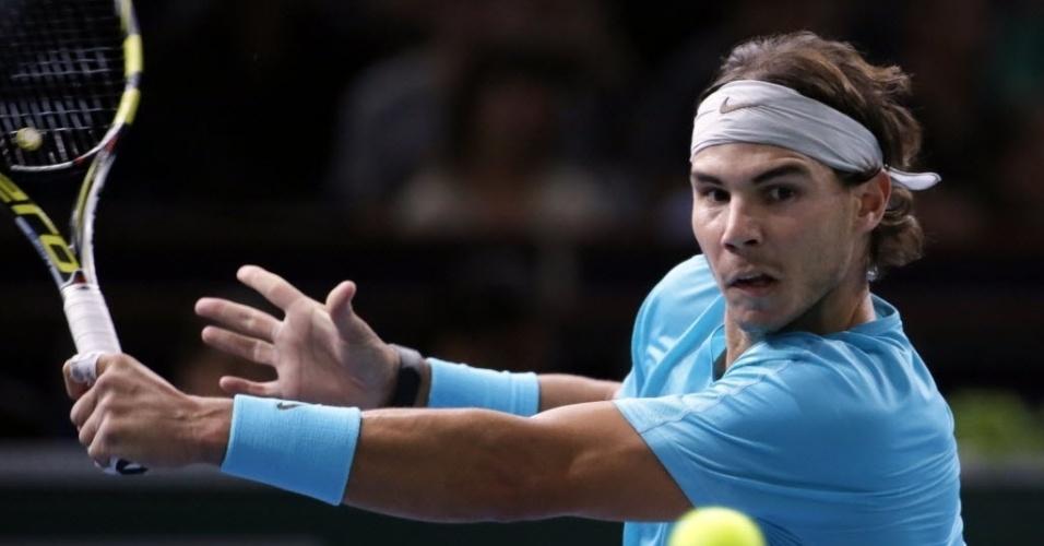 02.nov.2013 - Entre os semifinalistas, Rafael Nadal é o único que nunca conquistou um título do Masters 1000 de Paris