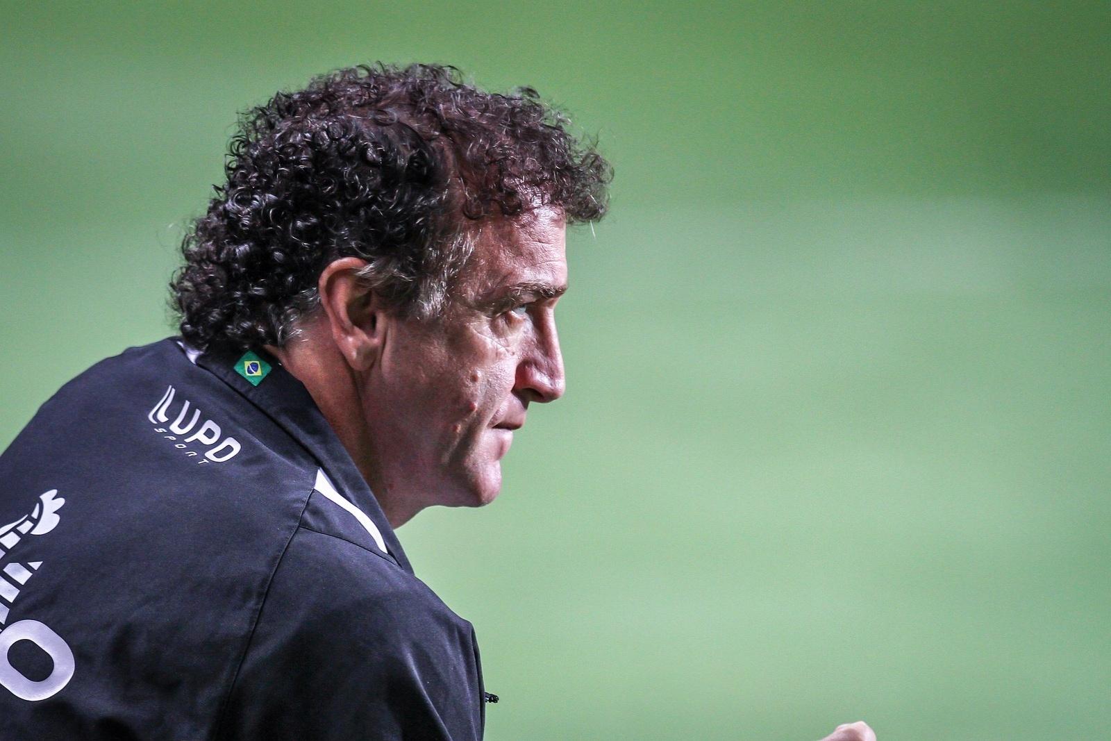 2 novembro 2013 - Técnico Cuca destaca a vontade mostrada pelo Atlético-MG na goleada sobre o Náutico