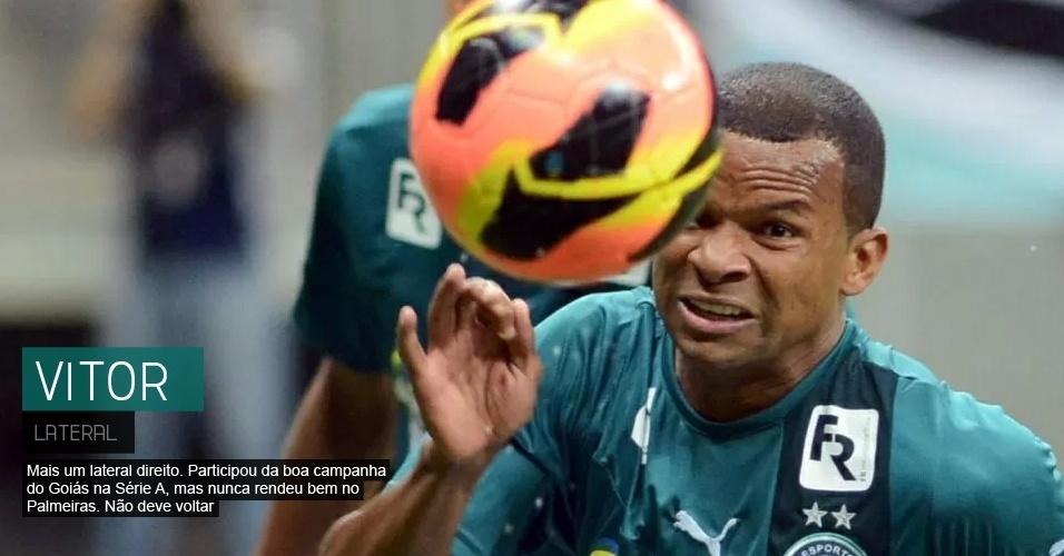Mais um lateral direito> Participou da boa campanha do Goiás na Série A e deve ficar fora do Palmeiras