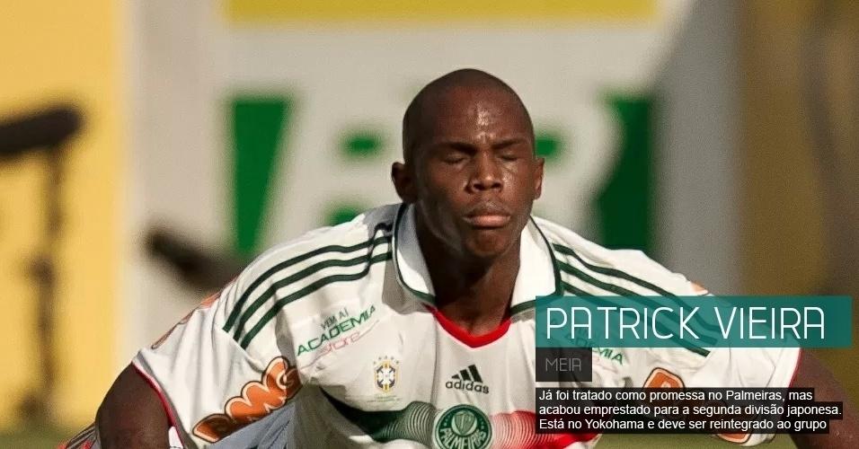 O meia, que já foi tratado como promessa no Palmeiras, está no Yokohama, do Japão, e deve ser reintegrado ao grupo