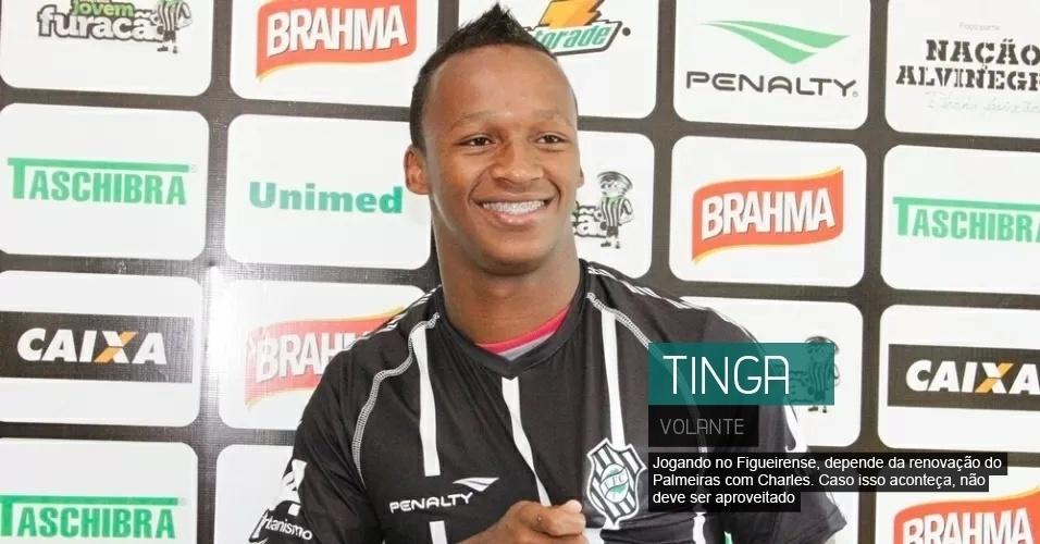 Volante do Figueirense, depende da renovação do Palmeiras com Charles. Caso isso aconteça, deve ser preterido