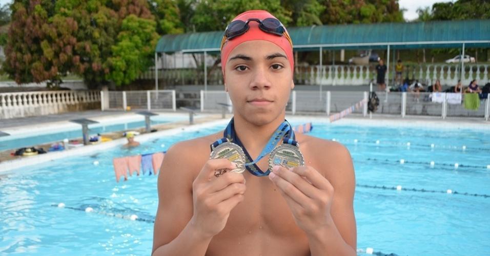13.nov.2013 - Pedro Nicolas Sena da Silva, nadador de Manaus-AM, tinha 13 anos e morreu atropelado em Vitória-ES
