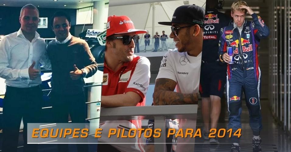 Equipes e pilotos para a temporada 2014 da Fórmula 1