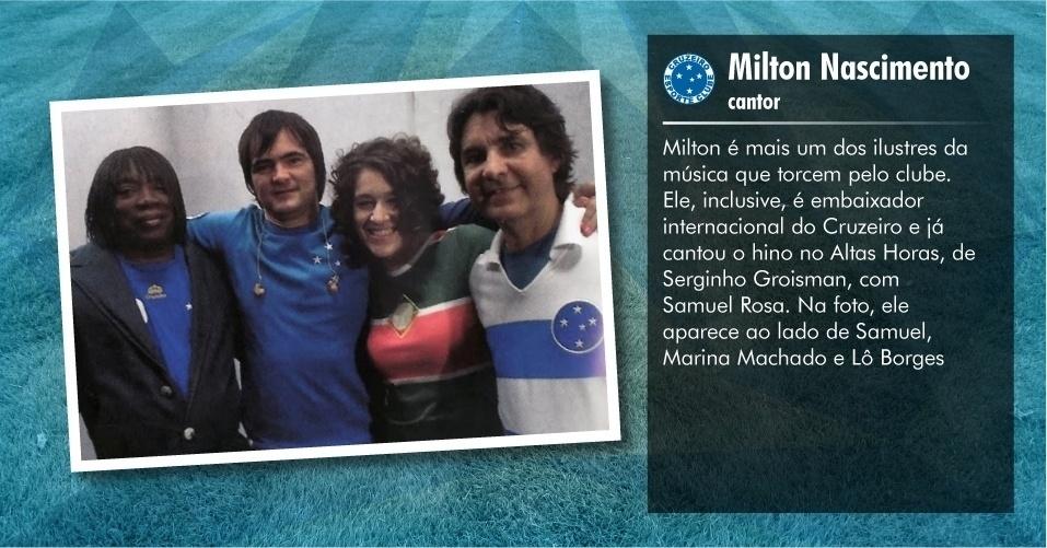 Torcedores ilustres do Cruzeiro: