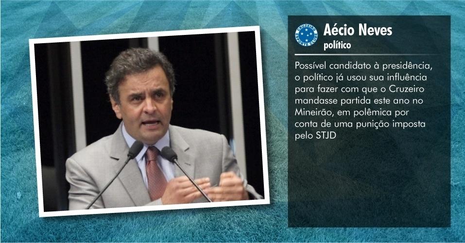 Torcedores ilustres do Cruzeiro: Aécio Neves, político