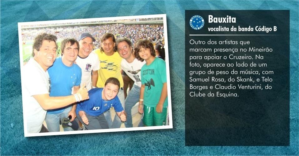 Torcedores ilustres do Cruzeiro: Bauxita, vocalista da banda Código B