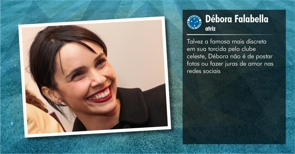 Torcedores ilustres do Cruzeiro: Débora Falabella, atriz