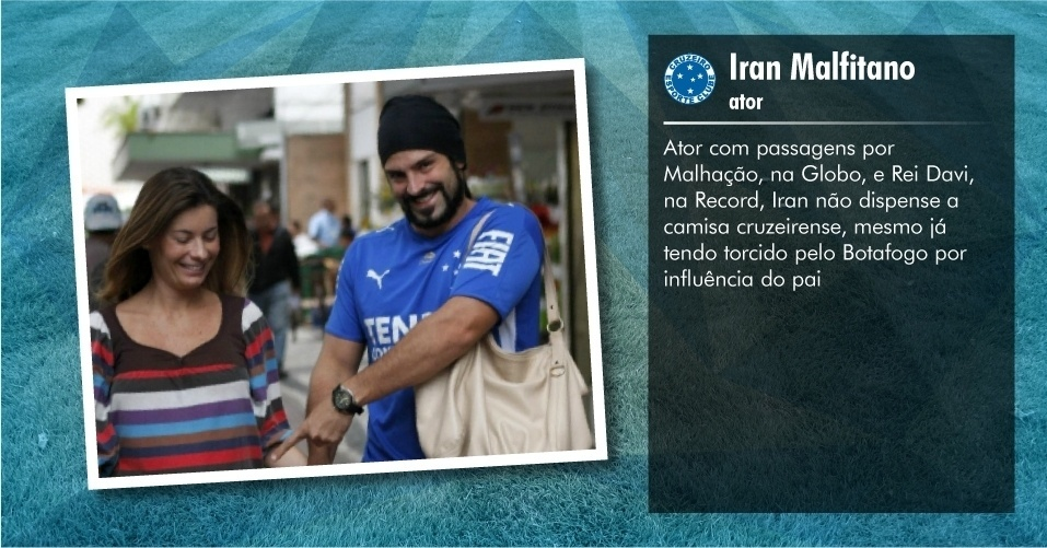 Torcedores ilustres do Cruzeiro: Iran Malfitano, ator