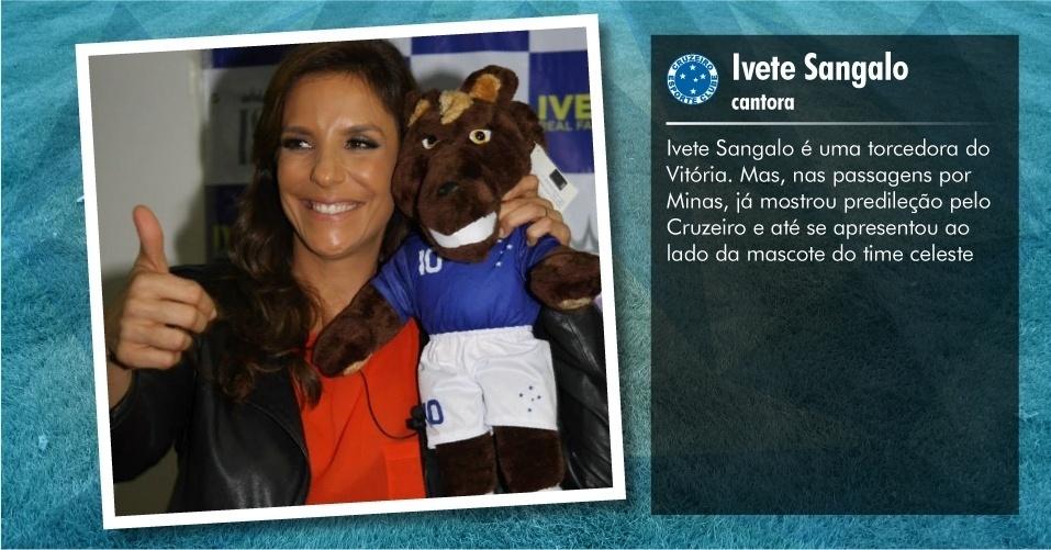 Torcedores ilustres do Cruzeiro: Ivete Sangalo, cantora
