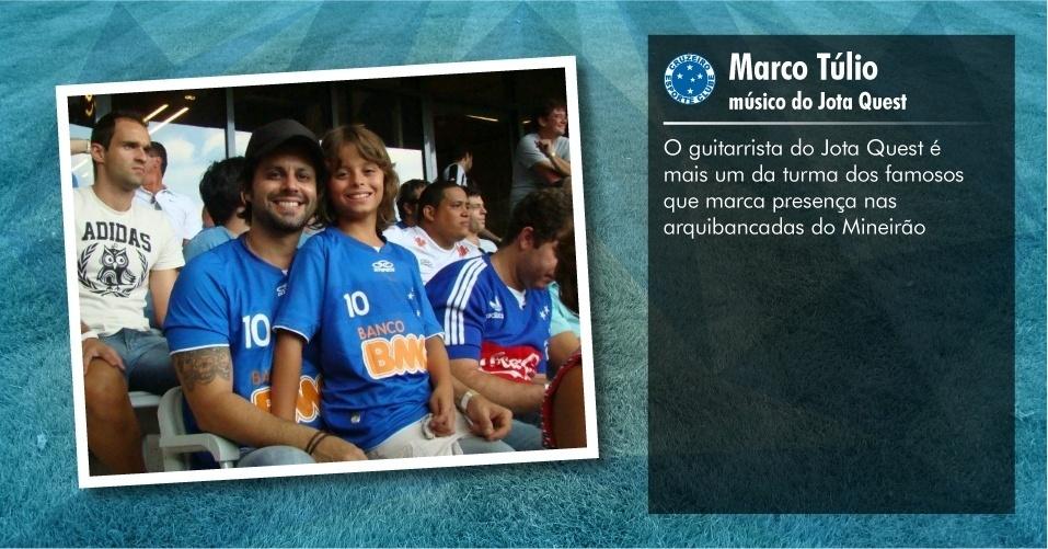 Torcedores ilustres do Cruzeiro: Marco Túlio, músico do Jota Quest