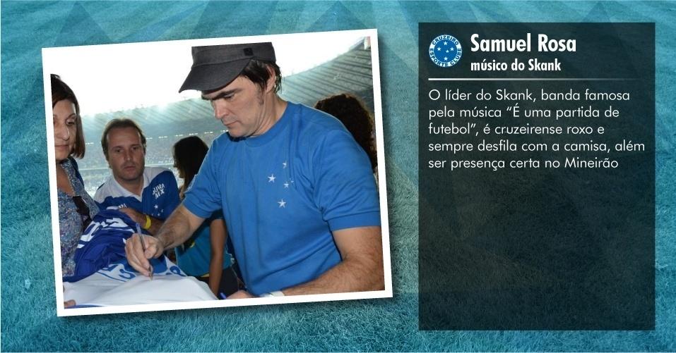 Torcedores ilustres do Cruzeiro: Samuel Rosa, músico do Skank