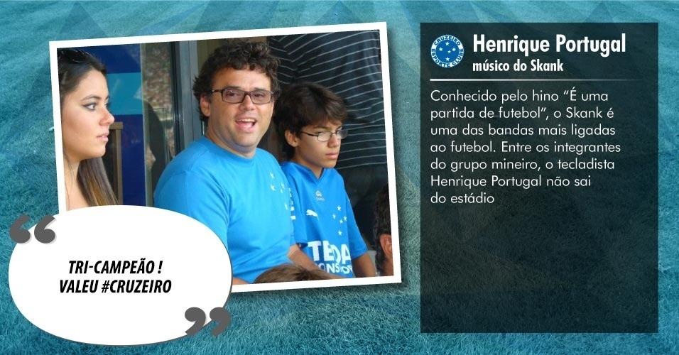 Torcedores ilustres do Cruzeiro: Henrique Portugal, músico do Skank