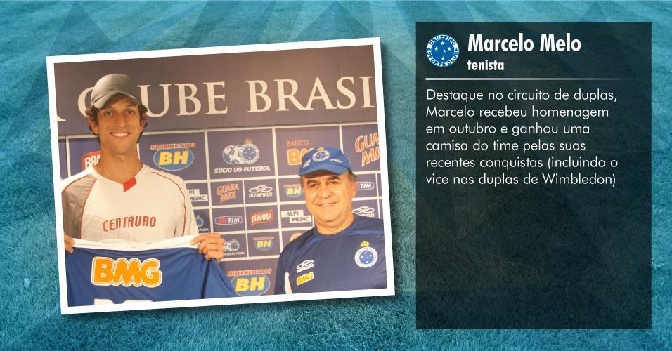 Torcedores ilustres do Cruzeiro: Marcelo Melo, tenista