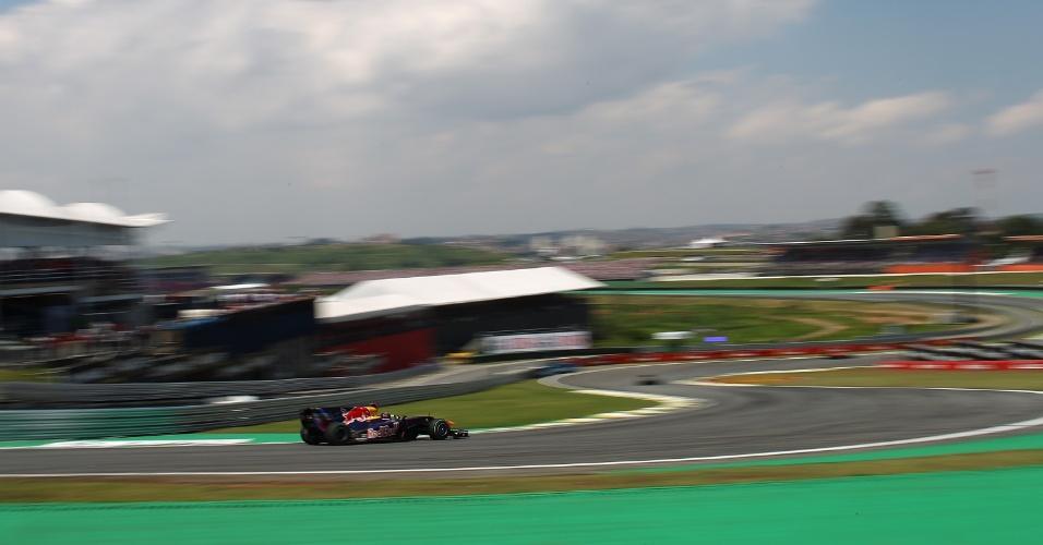 07.11.10 - Sebastian Vettel durante o GP Brasil de F-1